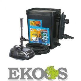 BIOfiltr zestaw filtracyjny do oczka wodnego z lampą UVC 11W, pojemność 10000l + Pompa 2000l/h