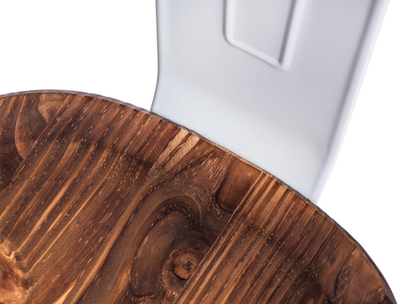 D2 Krzesło Paris Wood biały sosna