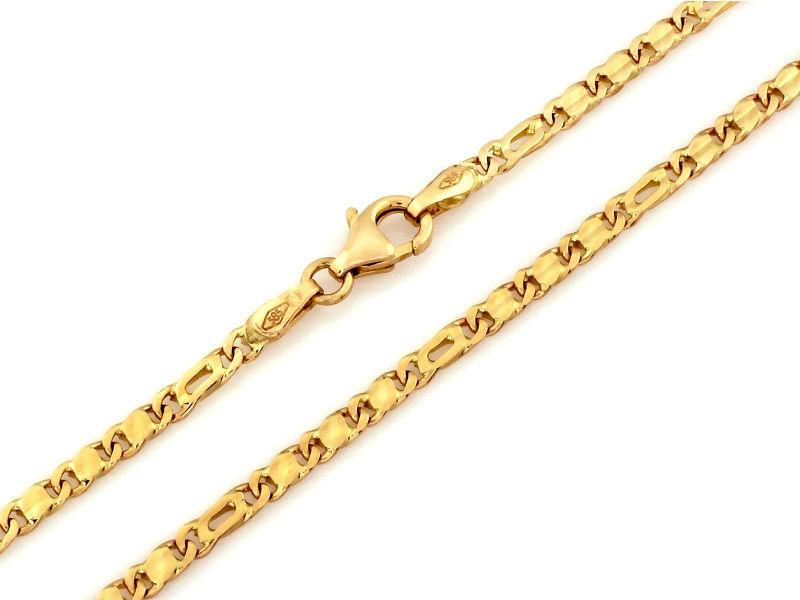 Złoty łańcuszek męski 585 nowoczesny splot 8,44 g
