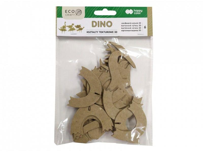 Kształty tekturowe 3D DINO 6 sztuki Eco Craft Happy Color nr 1068 HA 4513 1512-DN6