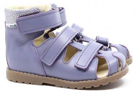 Mrugała Porto 1188/1288/1388 45 sandały sandałki profilaktyczne z zakrytym palcem - wrzos