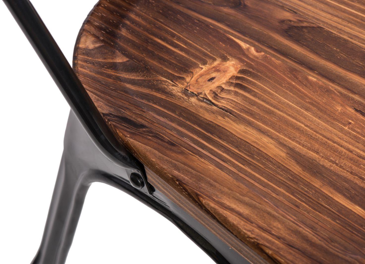 D2 Krzesło Paris Wood czarny sosna
