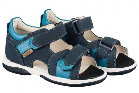 MEMO Kris 1CH sandały, sandałki, buty profilaktyczne z podeszwą diagnostyczną - niebieskie