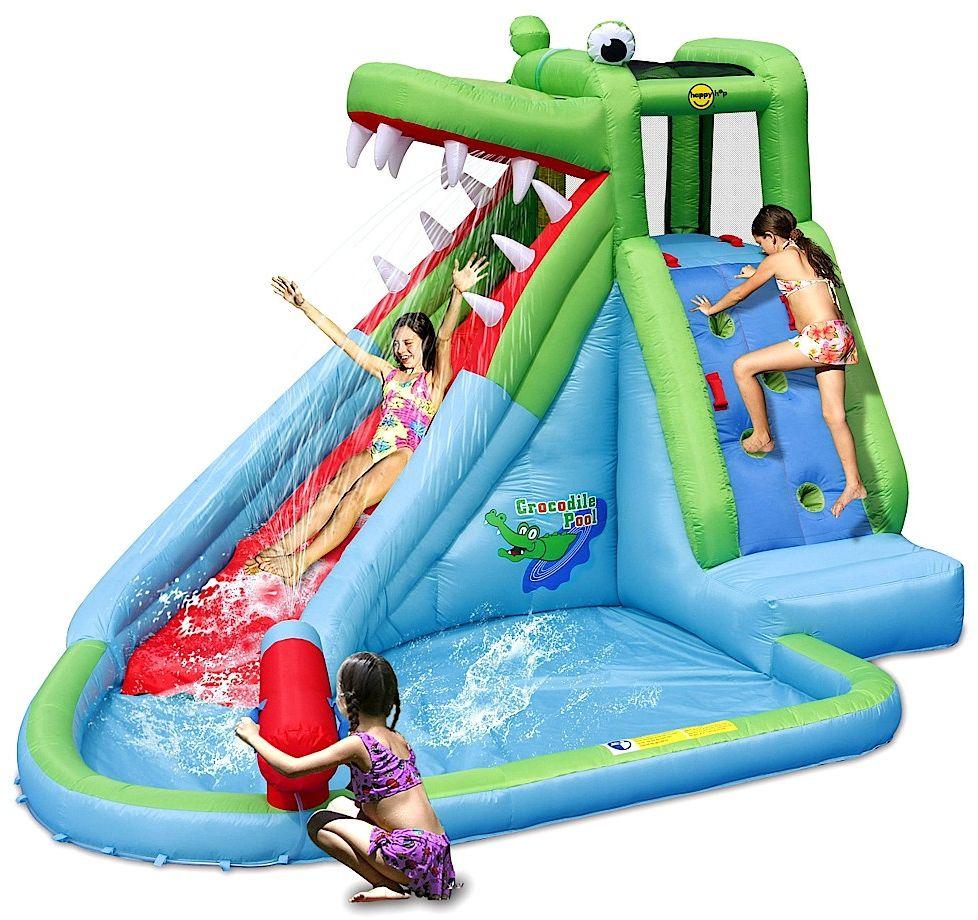 Dmuchana zjeżdżalnia wodna Happy Hop - Krokodyl