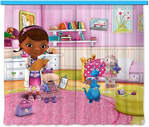 Firanka/zasłona FCS XL 4321, pokój dziecięcy Disney Dr.Mcstuffins