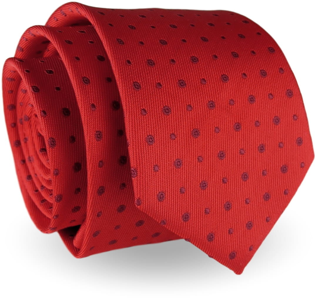 Elegancki Krawat Męski Modny klasyczny szeroki czerwony we wzory G242