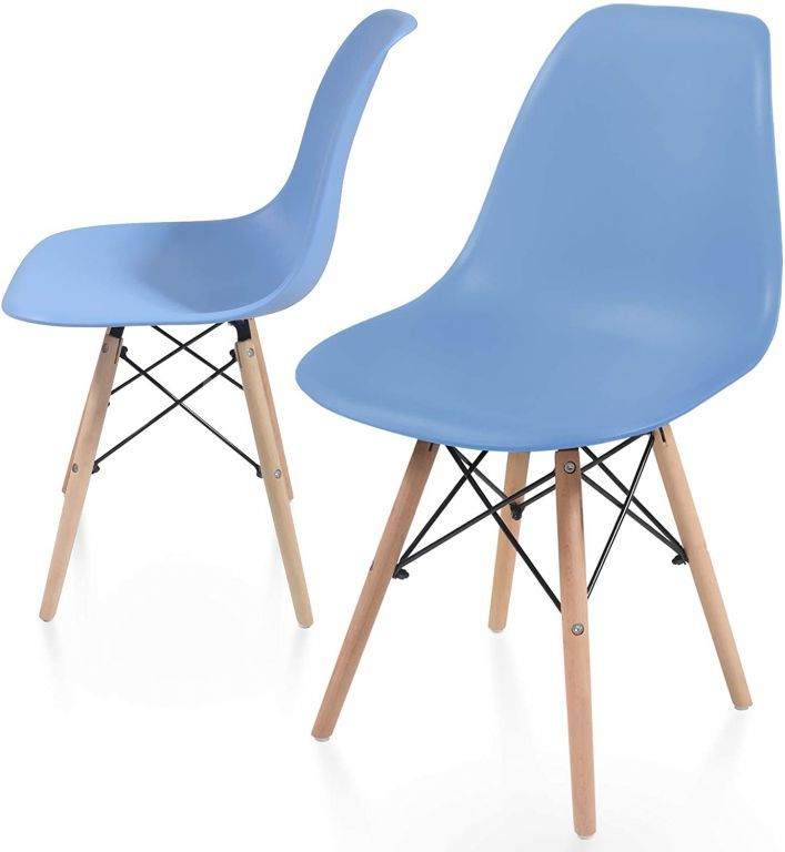 Zestaw krzeseł do jadalni z plastikowym siedziskiem, 2 sztuk