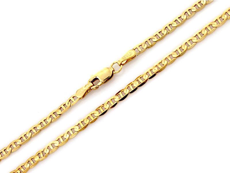 Złoty łańcuszek męski 585 Marina Gucci 55 cm prezent 9.81g