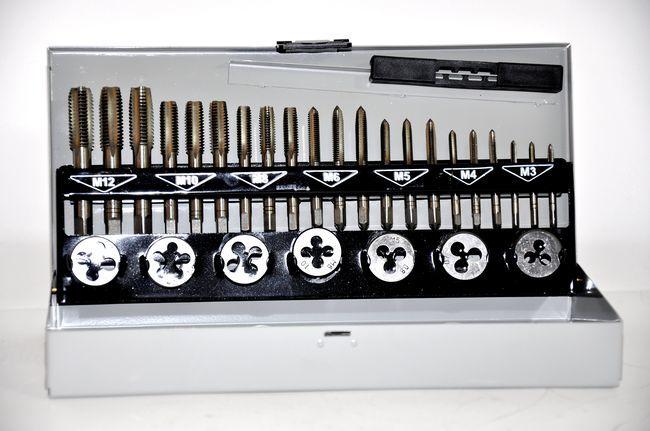 Gwintowniki i narzynki zestaw 32szt M3-M12