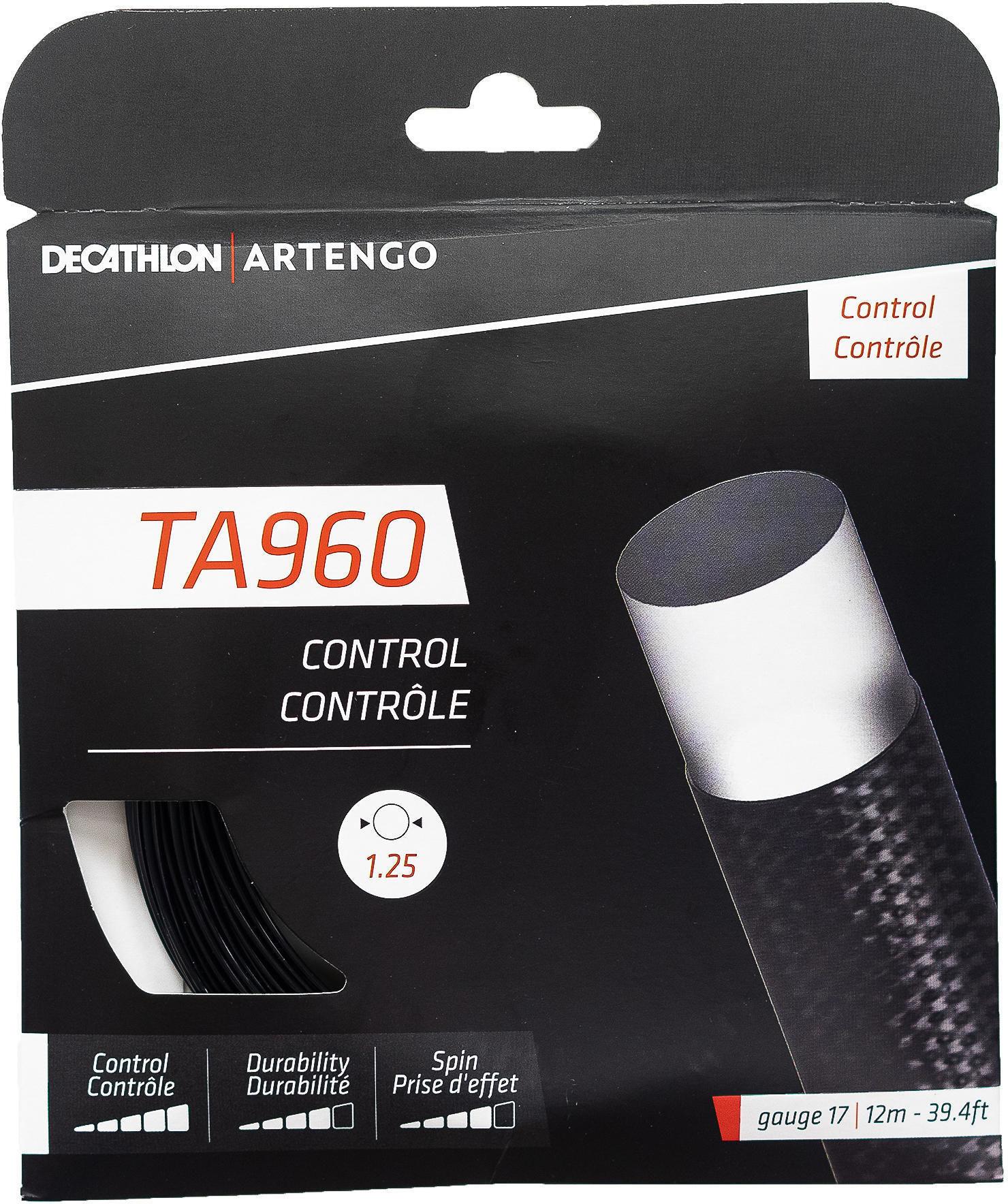 Naciąg do rakiety tenisowej jednordzeniowy TA 960 Control struna 1,25 mm