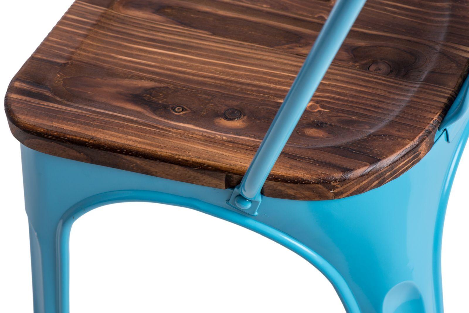 D2 Krzesło Paris Wood niebieski sosna