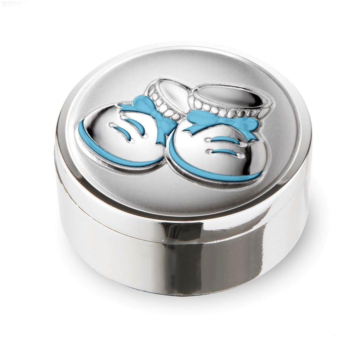 Pudełeczko na pierwszy ząbek Rozmiar: Fi 4 cm Kolor: Niebieski SKU: VL21071C