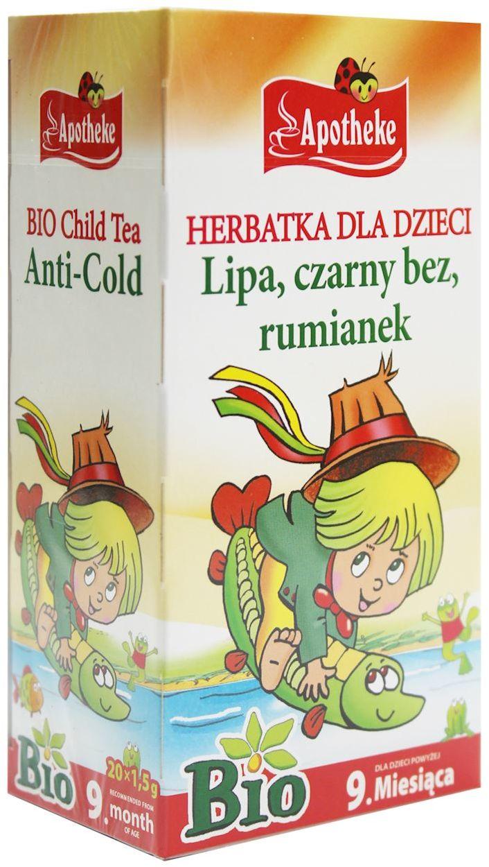Herbatka dla dzieci - lipa, czarny bez, rumianek bio 20 x 1,5 g - apotheke