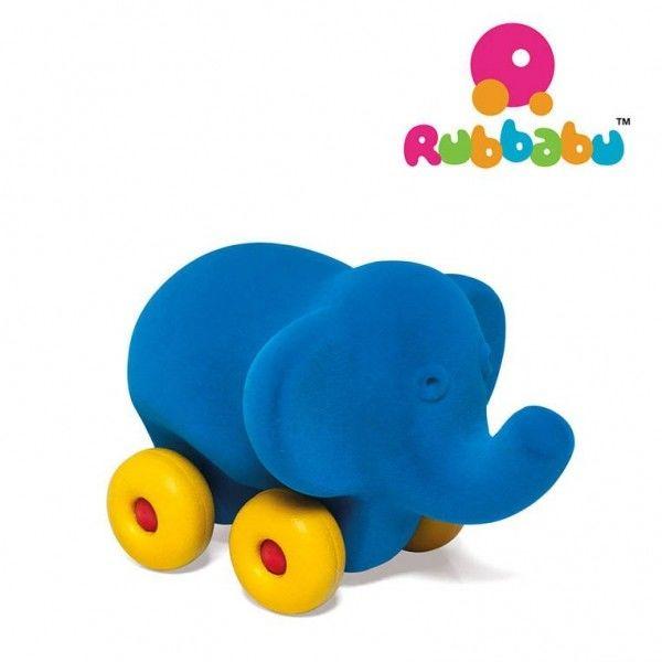 Rubbabu Słoń Pojazd Sensoryczny Niebieski