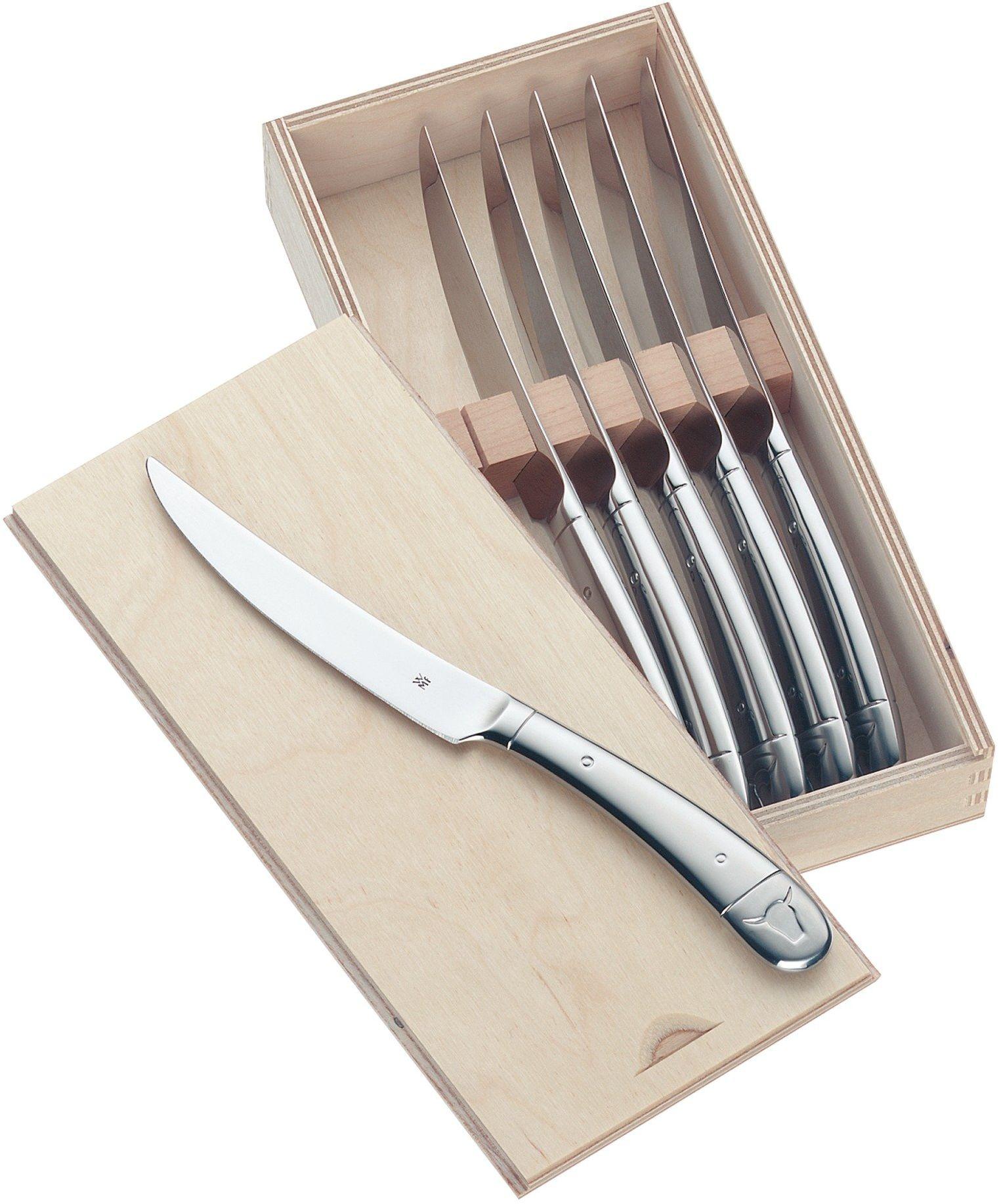 WMF Zestaw noży do steków, srebrny, 6-częściowy
