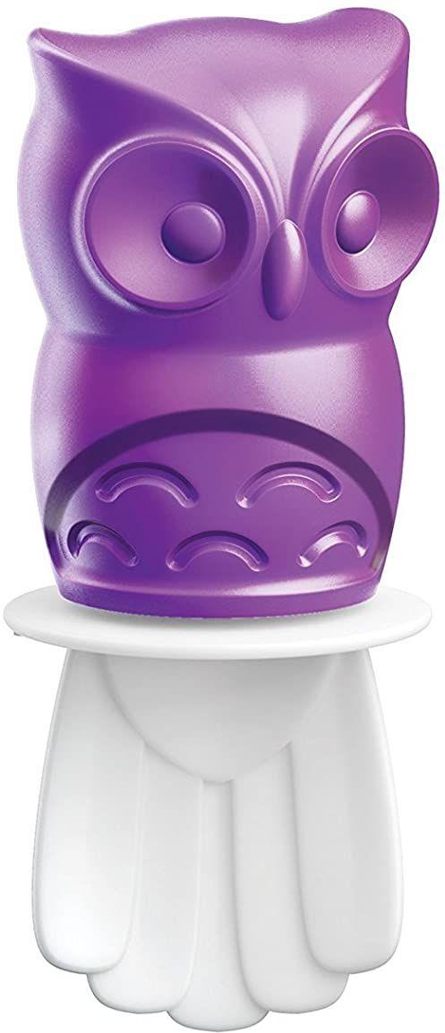 Zoku foremki do lodów Ice Pop sowa 45 ml w kolorze fioletowym, tworzywo sztuczne, 28 x 28 x 12 cm