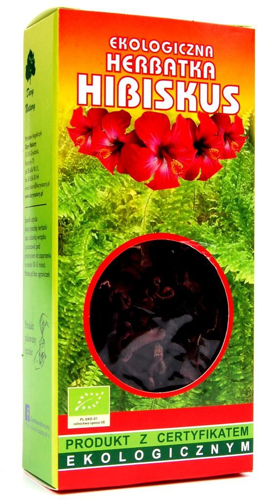 Herbatka hibiskus bio 50 g - dary natury