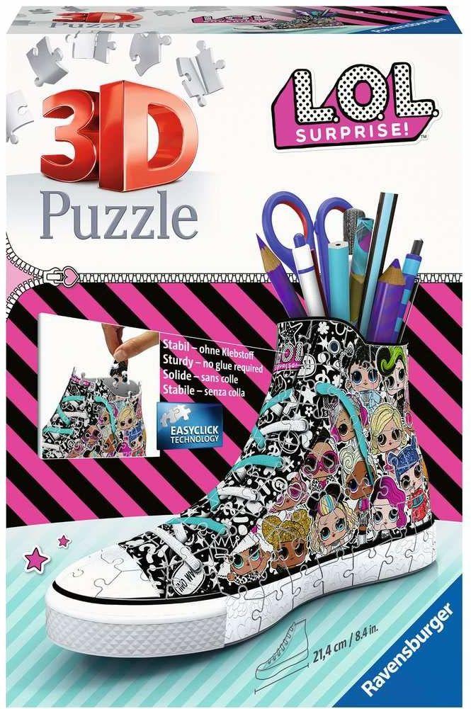 Ravensburger Puzzle 3D 11163 Ravensburger Trampek Lol Surprise 108 Elementów Puzzle 3D (11163) Dla Dzieci I Dorosłych. Technologia Easy Click - Każdy Element Pasuje Idealnie