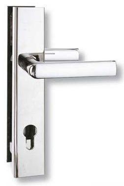 Szyld wzmocniony LOB klamko-klamka na wkład, rozmiar 90 mm chrom