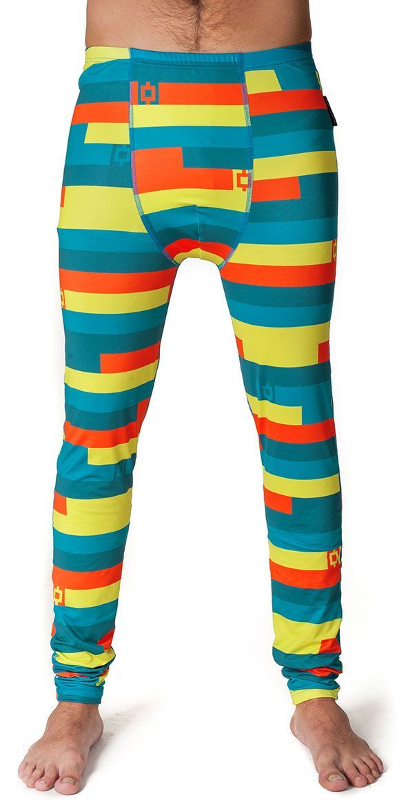 bielizna termoaktywna męska - spodnie HORSEFEATHERS STORM PANT (blue stripes)