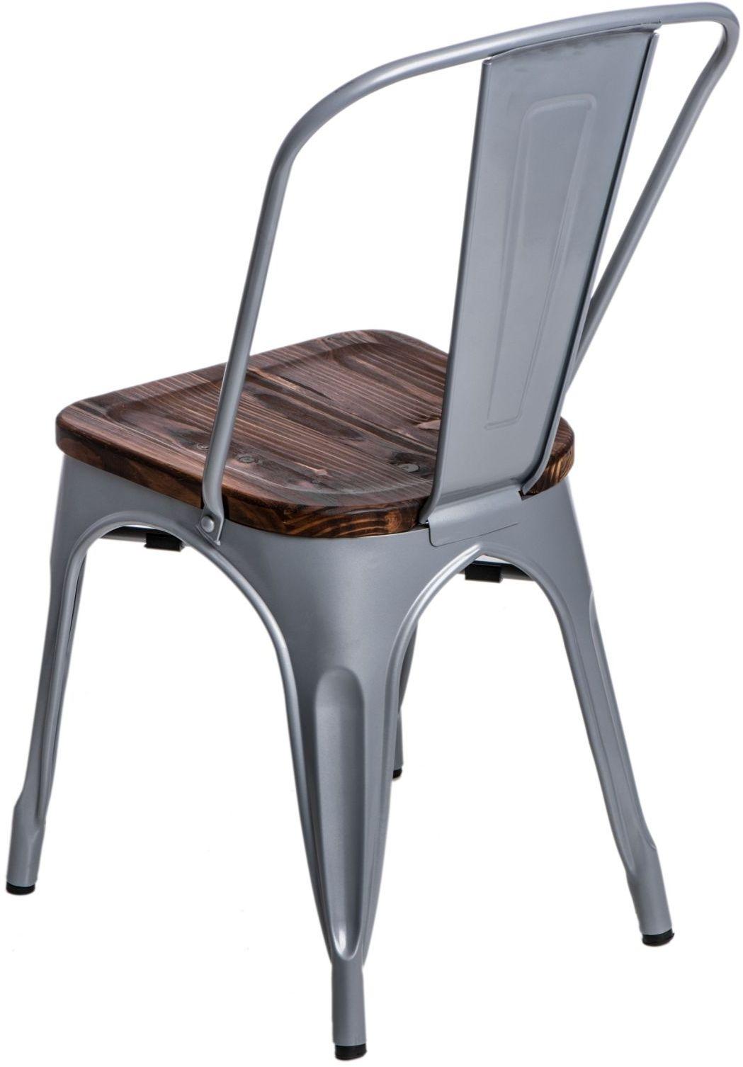 D2 Krzesło Paris Wood srebrny sosna
