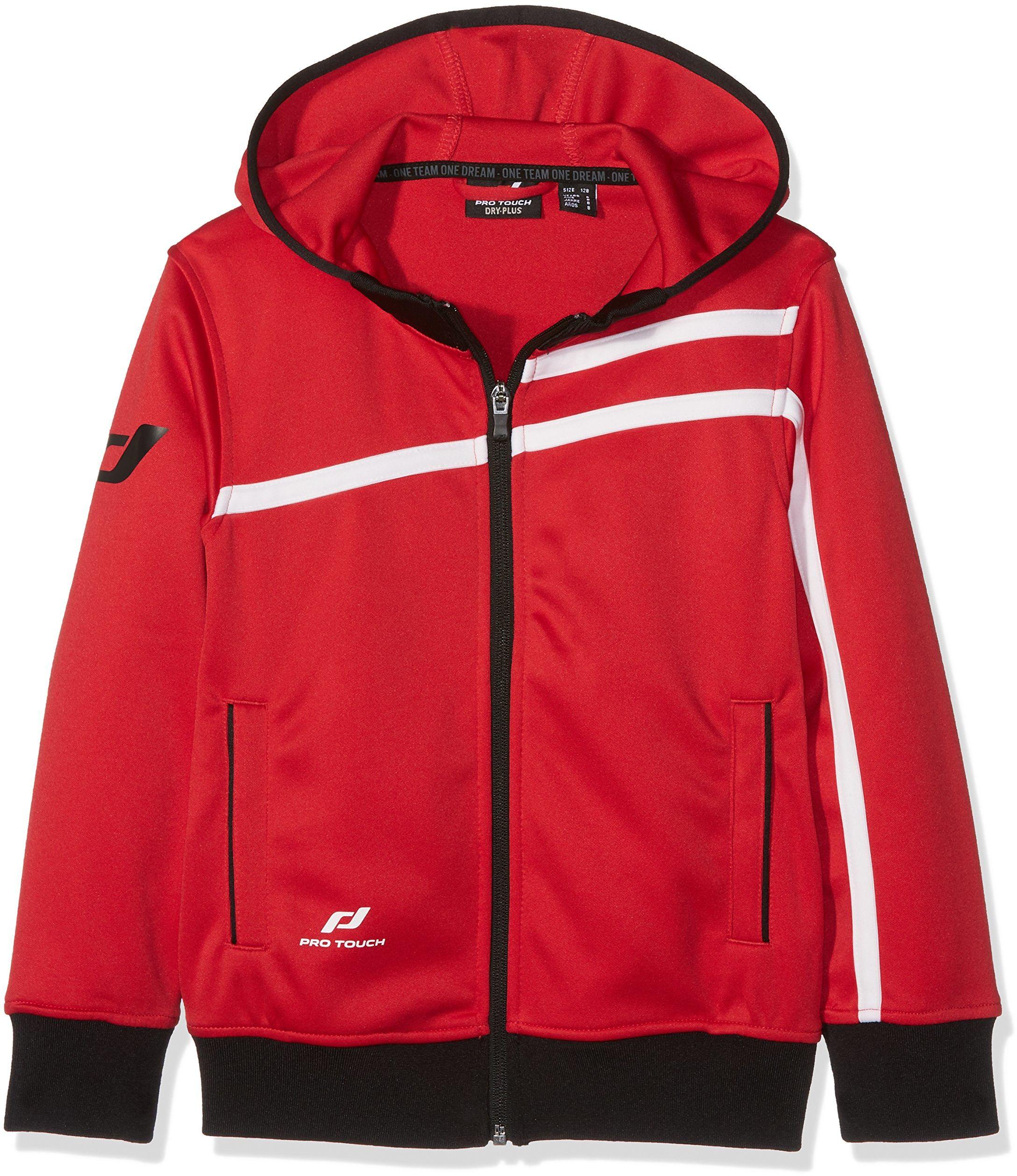 Pro Touch Dziecięca kurtka z kapturem, czerwona, 164