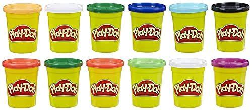 Zestaw 12 pojemników (po 112 g) z nietoksyczną masą plastyczną Play-Doh w kolorach zimy
