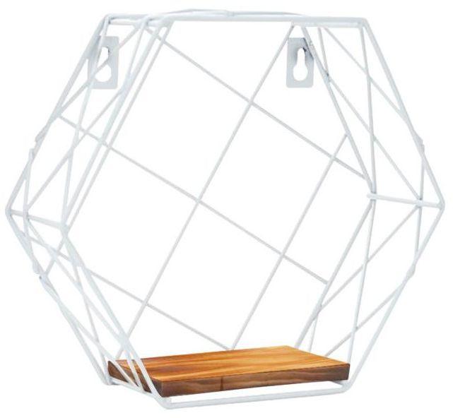 Półka dekoracyjna Hexagon biała Spaceo