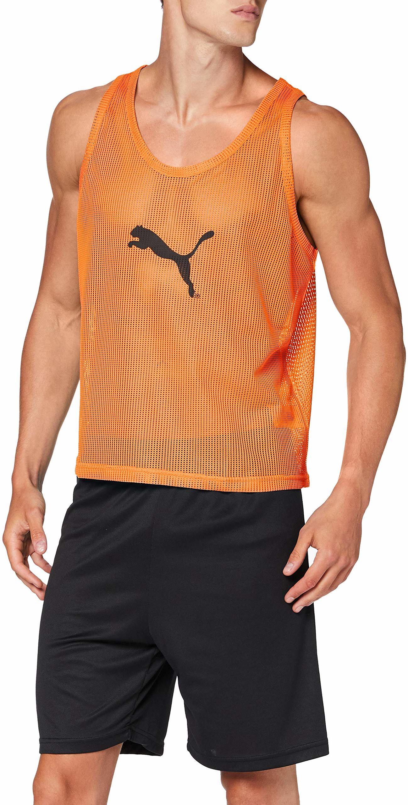 PUMA Męski T-shirt Bib Leibchen, fluo pomarańczowy, S