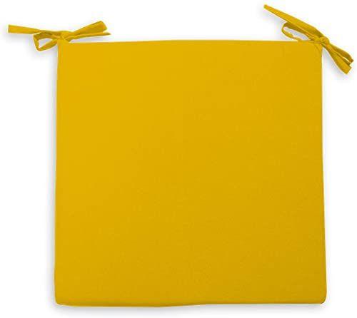 Soleil d''Ocre Alix poduszka na krzesło, poliester, żółta, 40 x 40 x 5 cm