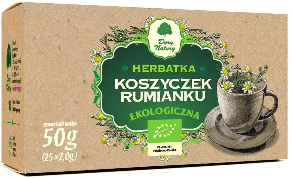 Herbatka z koszyczków rumianku BIO - Dary Natury - 25x2g