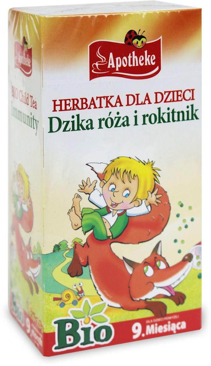 Herbatka dla dzieci - dzika róża i rokitnik bio 20 x 1,5 g - apotheke