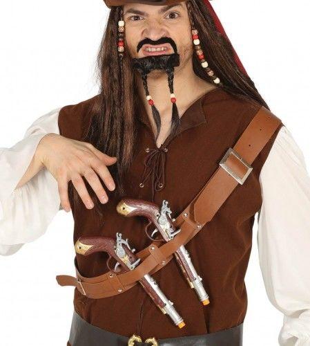 Pistolety pirata, korsarza na pasie