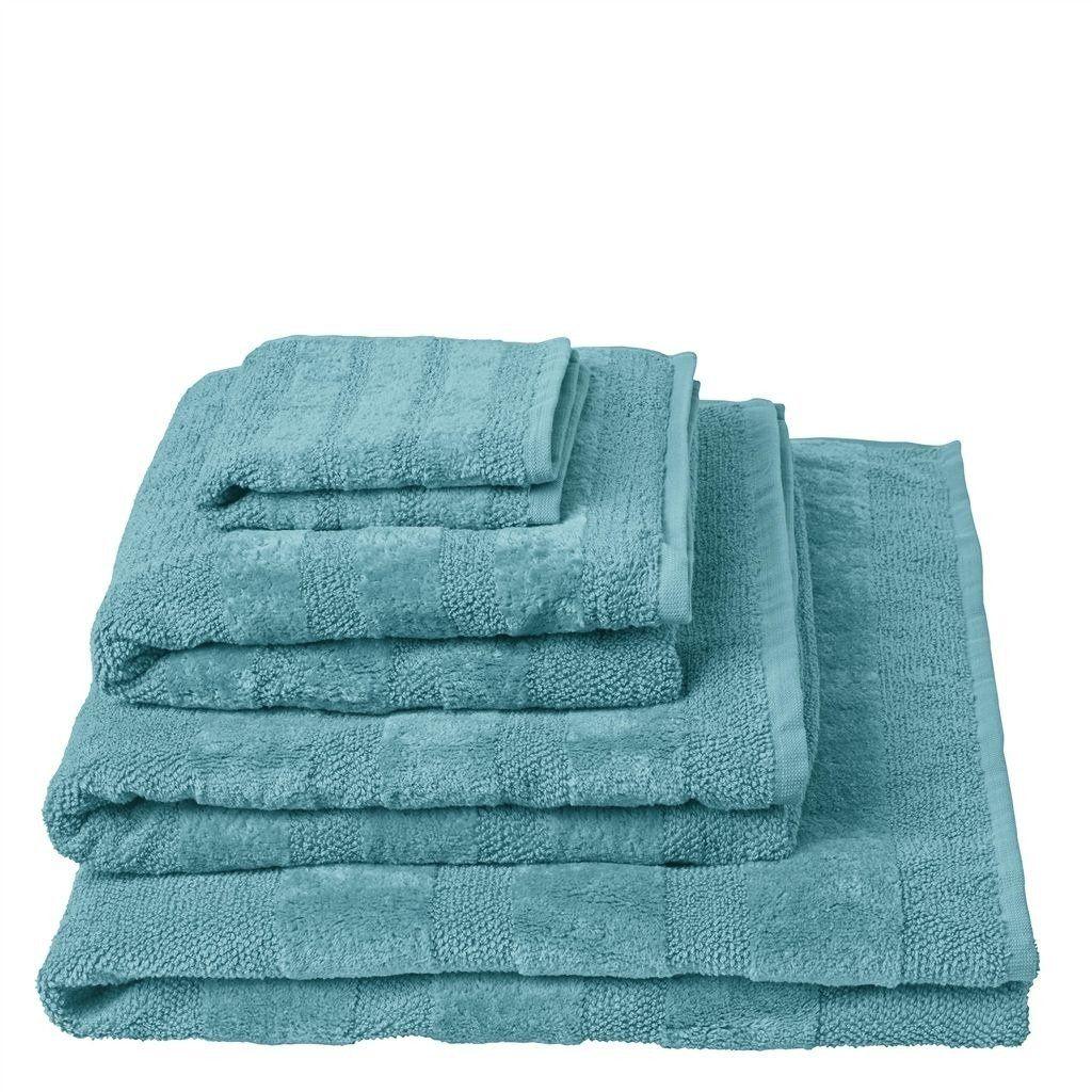 Ręcznik bawełniany Designers Guild Coniston Turquoise - Turquoise