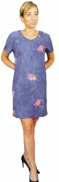 Sukienka z ptakami, Kreator Studio Mody, rozm. 46