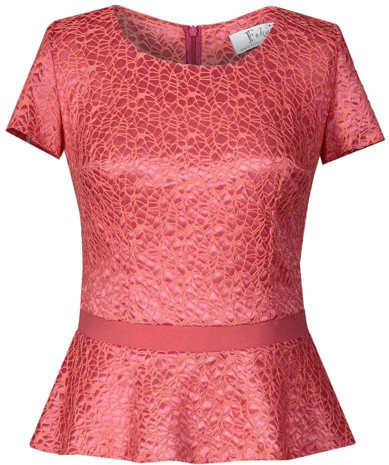Bluzki wizytowe Bluzka FBZ621 MALINOWY