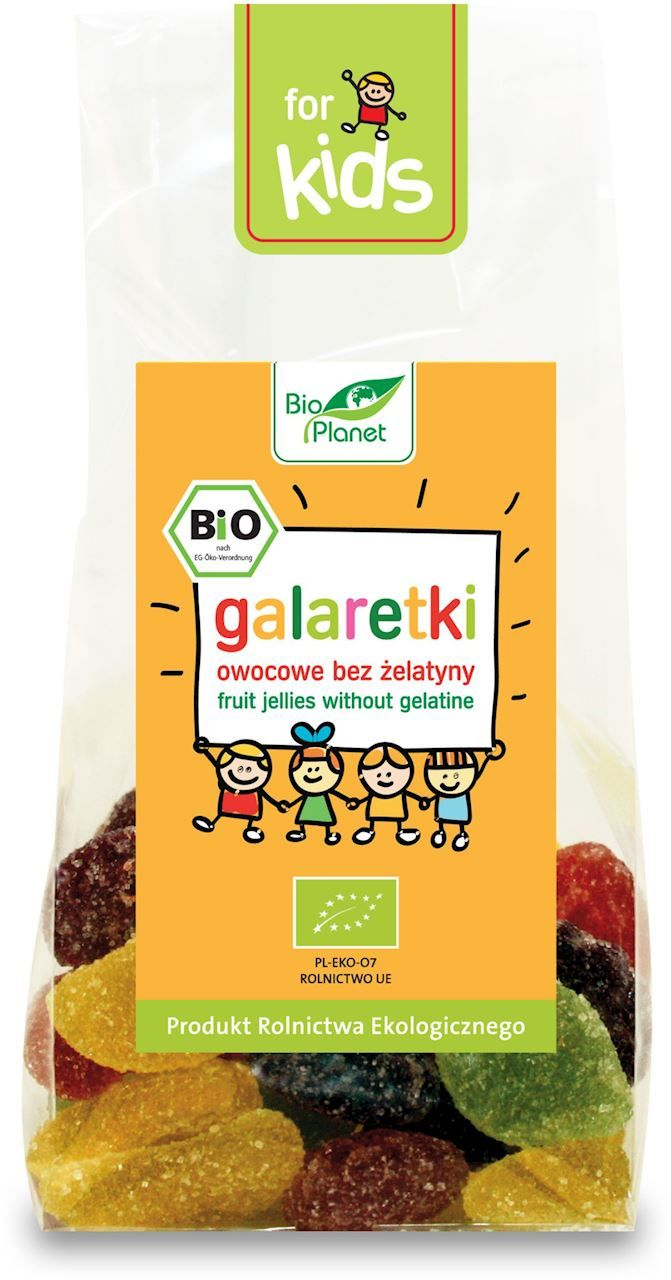 Galaretki owocowe bez żelatyny bio 100 g - bio planet