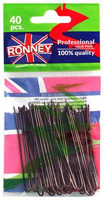 Ronney Profesjonalne kokówki do włosów Długie, brązowe 40 szt.
