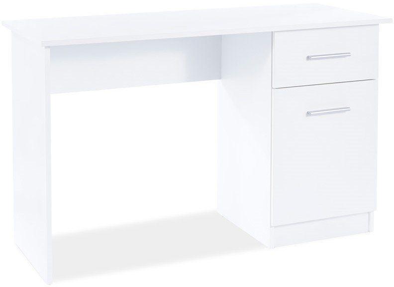 Biurko młodzieżowe B-002 biały mat z szufladą  KUP TERAZ - OTRZYMAJ RABAT
