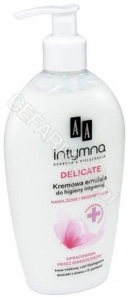 AA Intymna Ochrona&Pielęgnacja Delicate Kremowa emulsja do higieny intymnej - dozownik 300 ml
