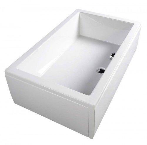 Brodzik głęboki 100x90 biały z nogami