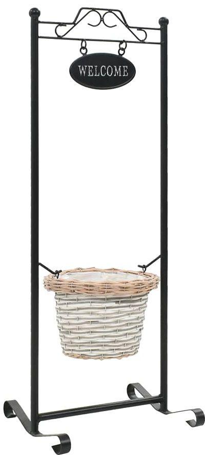 Stojak na kwiaty z koszykiem - Lasar