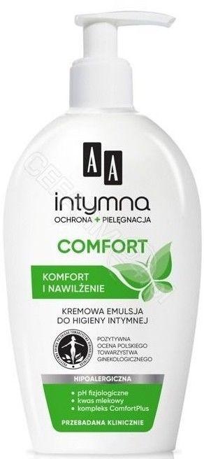 AA Intymna Ochrona&Pielęgnacja Comfort Kremowa emulsja do higieny intymnej - dozownik 300 ml