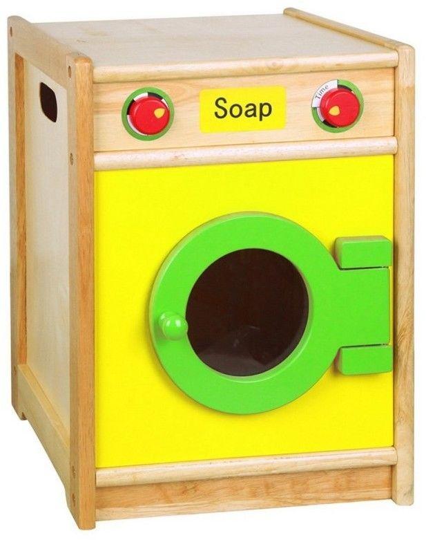 Drewniana Pralka dla Dzieci Otwierany Bęben Pokrętła Viga Toys