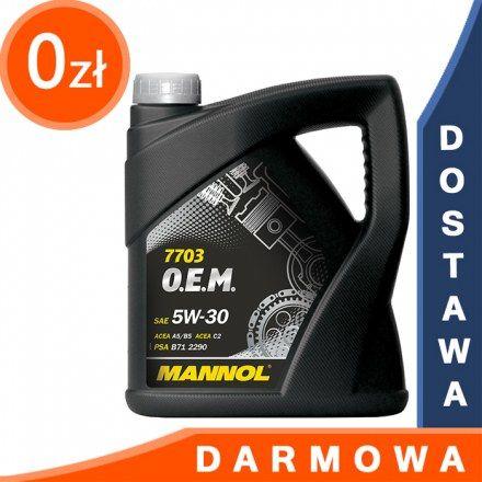 Mannol 7703 OEM Peugeot Citroen 5W30 4l DARMOWA DOSTAWA