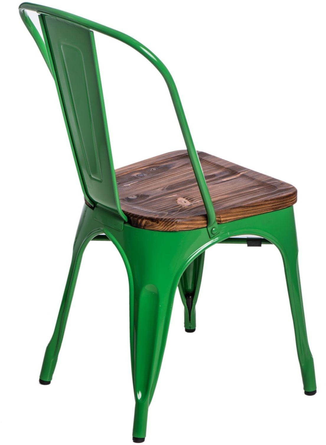 D2 Krzesło Paris Wood zielony sosna