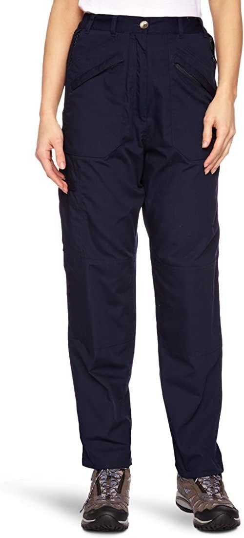 Regatta damskie niepodszewkowe spodnie Cargo Plain Blue (granatowe), 20/L31