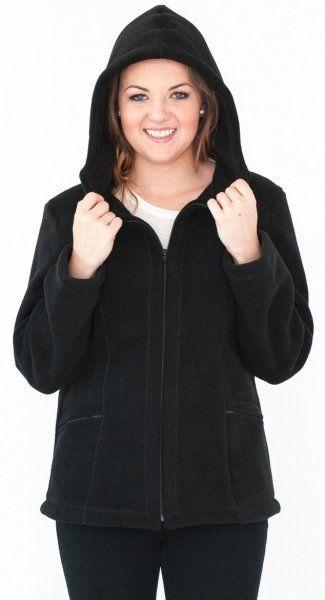 Bluza polarowa z kapturem, Kreator Studio Mody, r. 40
