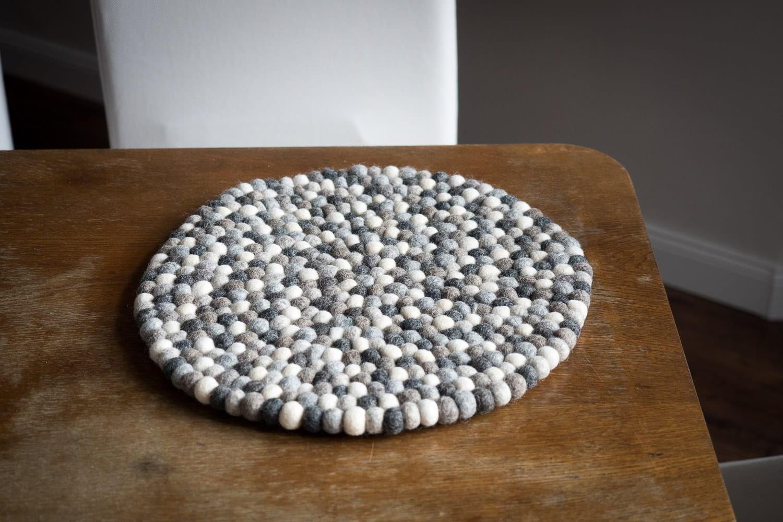 Podkładka filcowa stół 30 cm Delikatny Beż