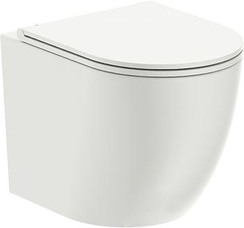 Miska WC wisząca 49x36,5x37 cm RIMLESS z deską wolnoopadającą SLIM